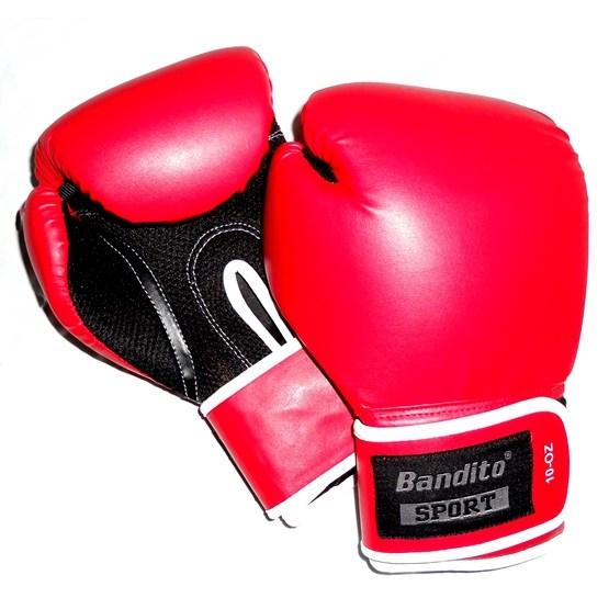 Bandito Sport - Boxningshandske - Svart/Röd 10 Oz